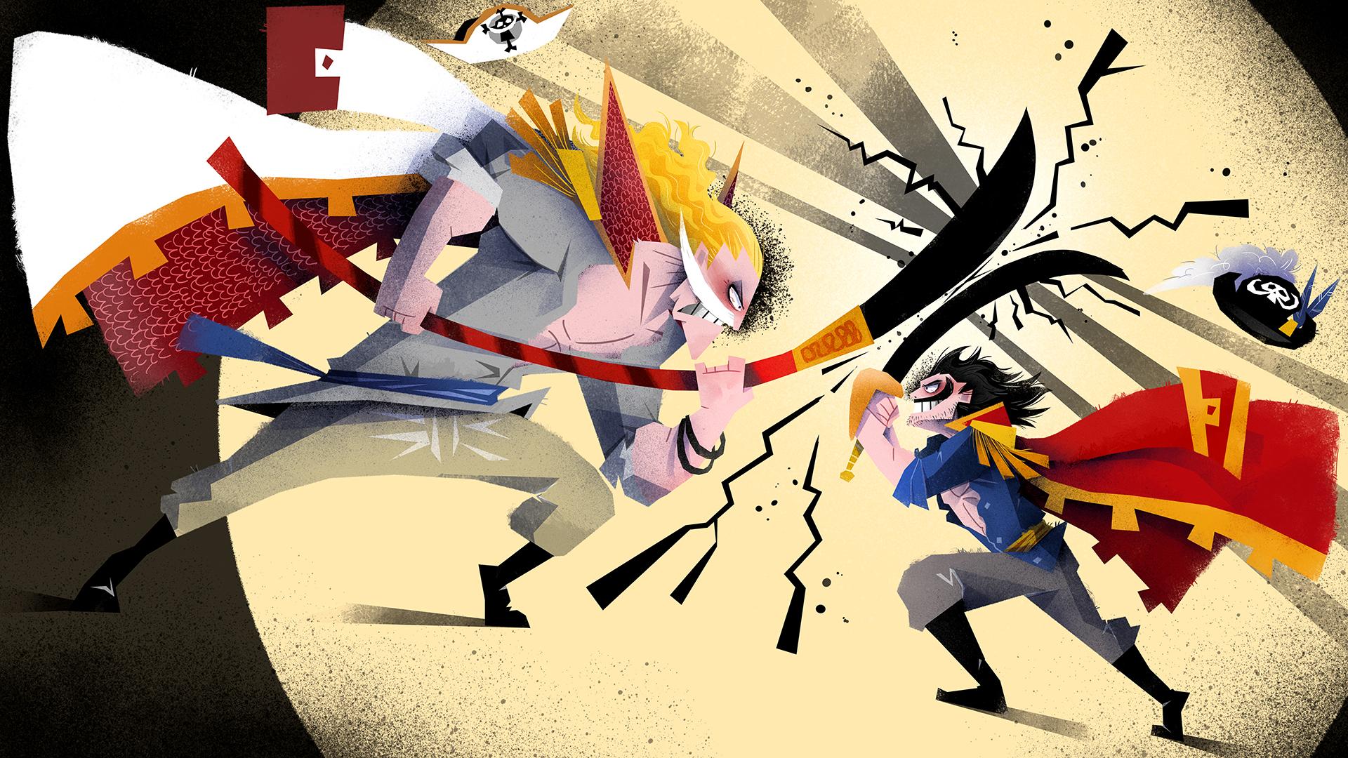 Whitebeard Vs Roger One Piece Wallpaper 43266613 Fanpop
