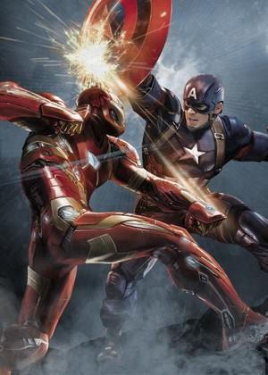 *Captain America v/s Iron Man*