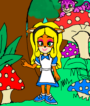 Alice Coco Bandicoot Wonderland and Cheshire Pura the Cat