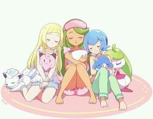 Alolan girls