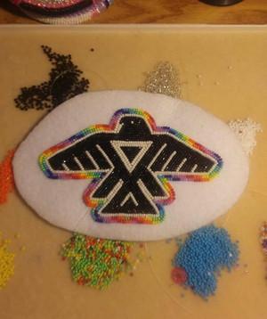 Anishinaabe Thunderbird - Manidoominensikaan ((Bead work))