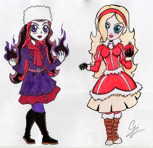 mansanas White & Raven reyna (AzulPineapple)