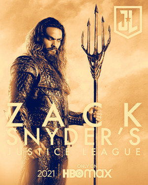 Aquaman -Zack Snyder's Justice League Poster -HBO Max 2021