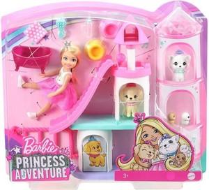 バービー Princess Adventure - Chelsea & Pet Palace Playset
