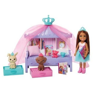 barbie Princess Adventure - Chelsea anak anjing, anjing Playset