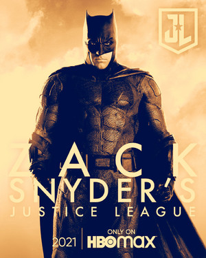 蝙蝠侠 -Zack Snyder's Justice League Poster -HBO Max 2021
