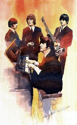 Beatles Illustration Art 🎨
