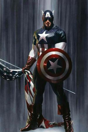 Captain America Vol 9 no.1-5 Covers by Alex Ross
