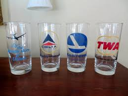 Commercial Airline Drinking Glasses