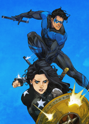 Dick and Donna in Titans (2016) Issue no.12