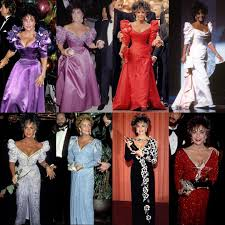Elizabeth Taylor Wearing Custom-Made Dresses By Nolan Miller
