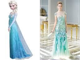 Elsa Inspired Prom Dress