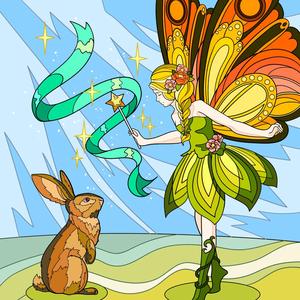 Fata e coniglio