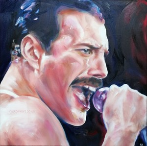Freddy Mercury art portrait