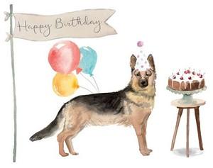 German Shepherd Birthday Card