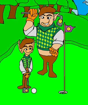 Golfer Small and Big Norm (Skins)