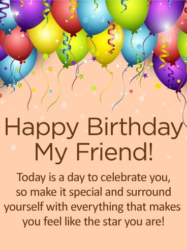 Happy Birthday, My Friend