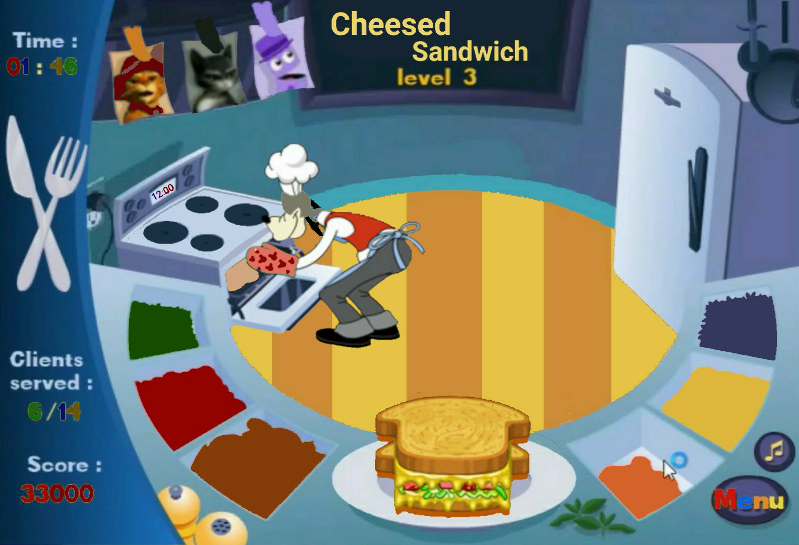 House Of Mouse Frenzy Kïtchen Pack The House Level 4 Games