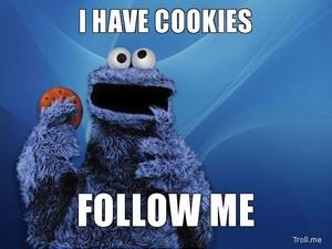 I Have koekjes, cookies Follow Me Cookie Meme