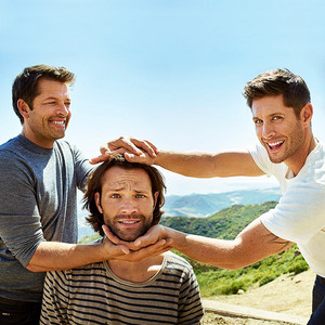 Jared, Jensen, and Misha -EW exclusive portraits of the 수퍼내츄럴 cast