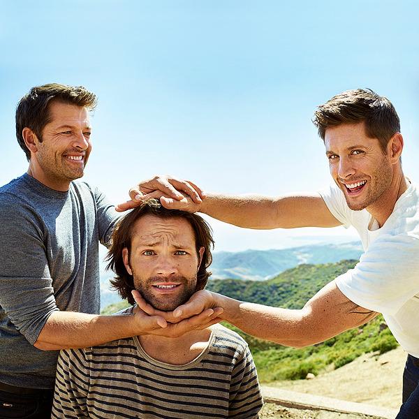 Jared, Jensen, and Misha -EW exclusive portraits of the Supernatural cast