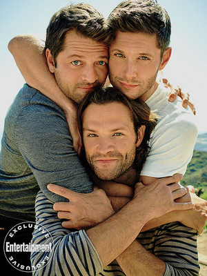 Jared, Jensen and Misha -EW exclusive portraits of the Supernatural cast