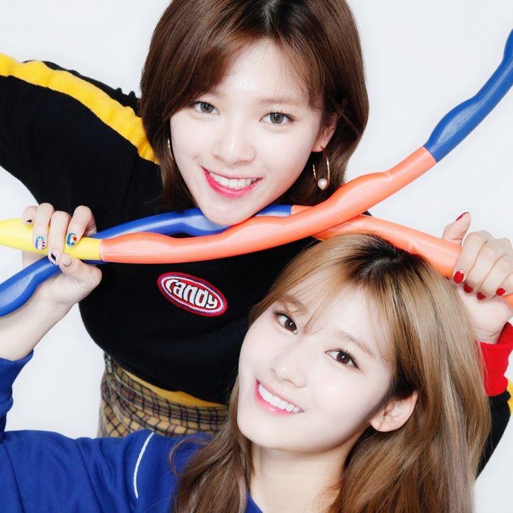 Jeongyeon and Sana