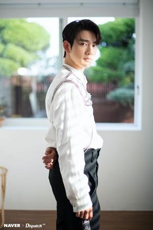 "Jinyoung ""DYE"" mini album promotion photoshoot by Naver x Dispatch"