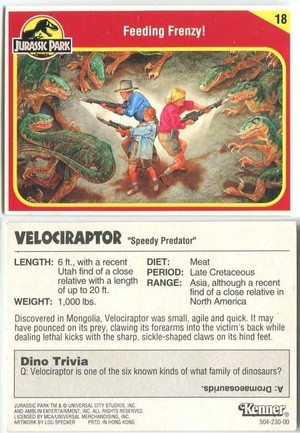 Jurassic Park Collector Card