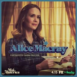 Mrs. America - Cast Promos - Sarah Paulson as Alice Macray