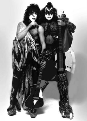 Paul and Gene ~Bravo Photo shoot...May 22, 1980
