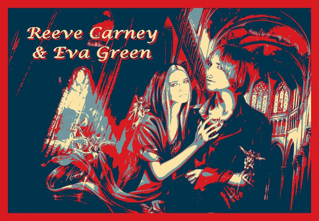 Reeve Carney and Eva Green