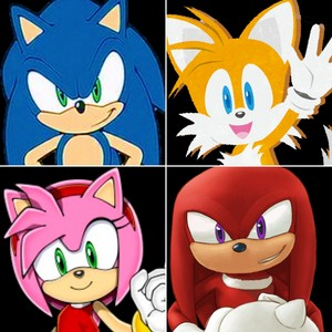Sonic, Tails, Amy and Knuckles