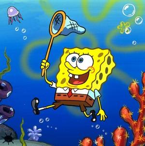 Spongebob jellyfishing