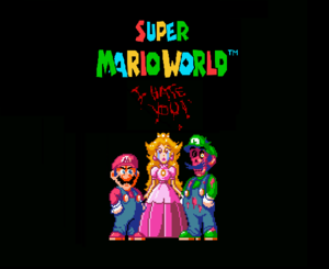 Super Mario World : I Hate You (Logo)