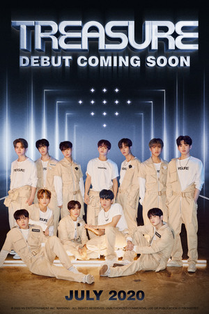 TREASURE boys suit up in their first 'coming soon' debut poster