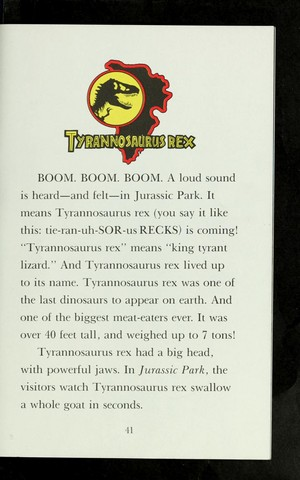 The 恐竜 of Jurassic Park (All Aboard 読書 Book)