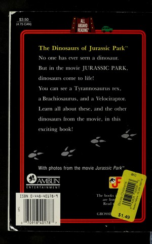 The Dinosaurs of Jurassic Park (All Aboard Reading Book)