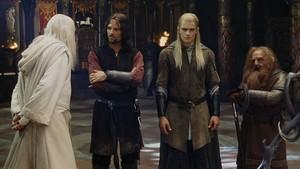 The Three Hunters in Edoras