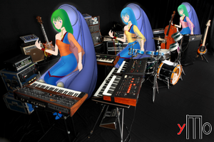 The triumviralis muses are playing Synthesizer