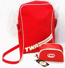 Vintage TWA Travel And Amenity Bag