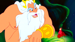 Walt Дисней Screencaps - King Triton & Sebastian