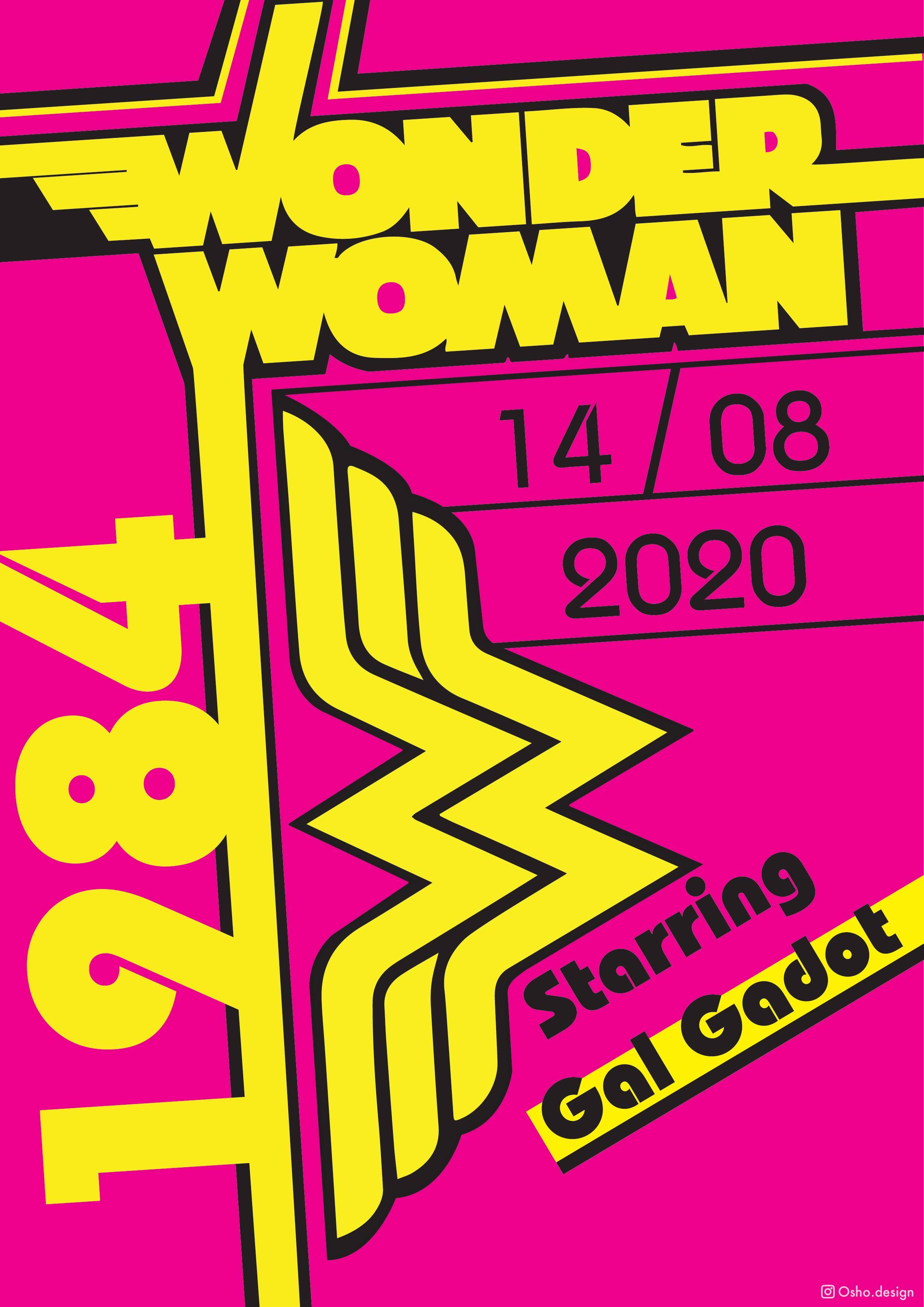 Wonder Women 1984 Bauhaus poster
