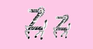 Zïg-Zag zebra LetterLand