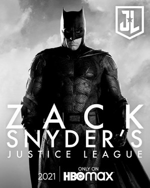 Zack Snyder's Justice League Poster - Ben Affleck as バットマン