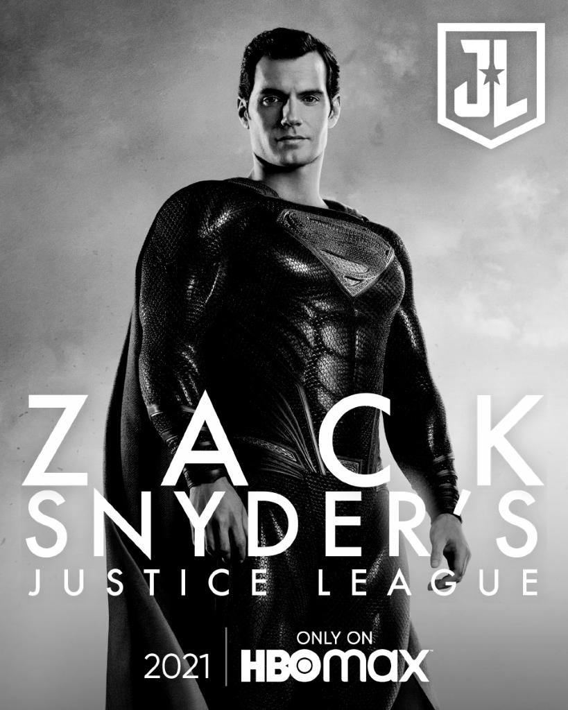 Zack Snyder's Justice League Poster - Henry Cavill as super-homem