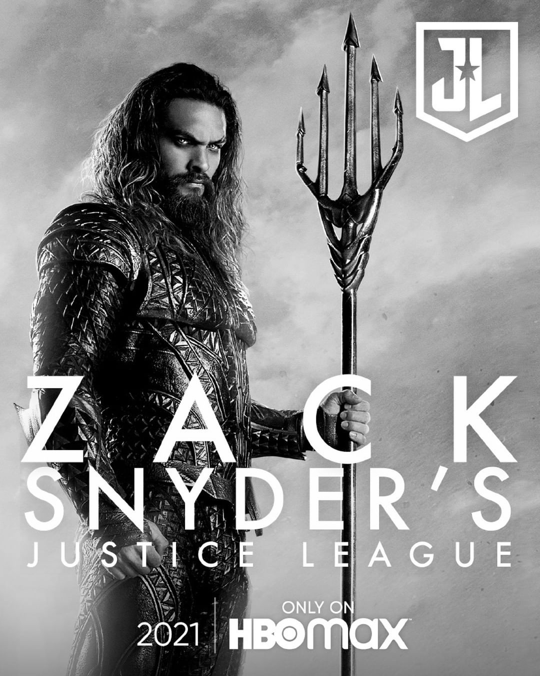 Zack Snyder's Justice League Poster - Jason Momoa as Aquaman
