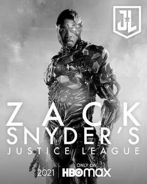 Zack Snyder's Justice League Poster - sinar, ray Fisher as Cyborg