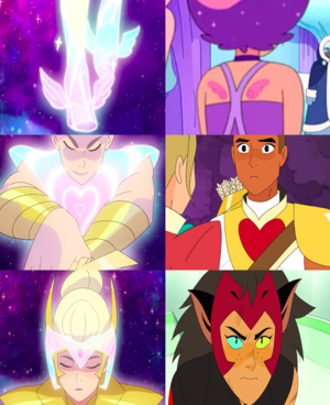 best friend squad homage in She-Ra's new transformation sequence