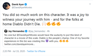 "David Ayer says ""Diablo didn't die."""